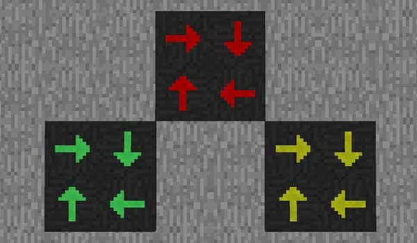 Imagen donde podemos ver las placas, que añade el mod Dark Utilities 1.16.1, 1.16.2, 1.16.3, 1.16.4 y 1.16.5, que dirigen entidades hacia cualquier dirección.