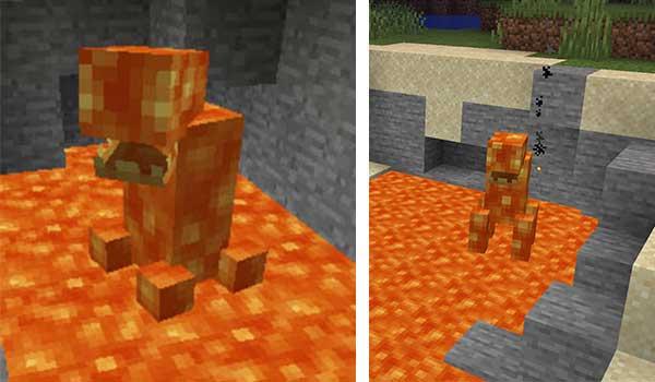 Imagen donde podemos ver el monstruo de lava que añade el mod Lava Monsters 1.16.1, 1.16.2, 1.16.3 y 1.16.4.