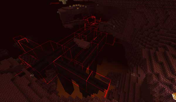 Bounding Box Outline Mod para Minecraft 1.16.3