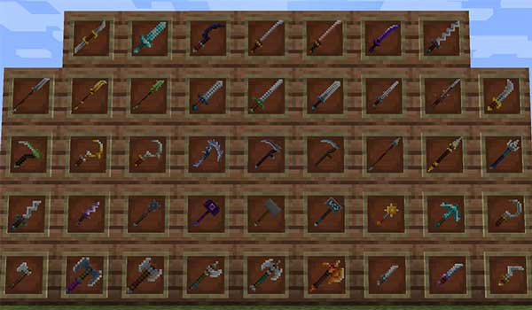 MC Dungeons Weapons 1.16.1, 1.16.2 y 1.16.3