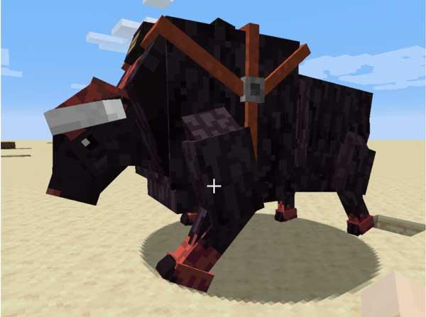 Imagen donde podemos ver el bisonte, entre otros animales, que añade el mod Pandoras Creatures 1.16.3 y 1.16.4.