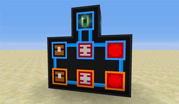 Imagen donde podemos ver los diversos módulos que podremos instalar en los portales dimensionales que nos permite fabricar el mod Portality 1.16.1, 1.16.3 y 1.16.4.