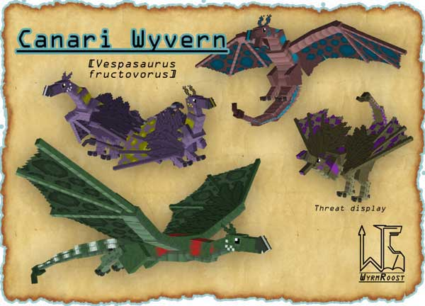 Imagen donde podemos ver uno de los dragones que añade el mod Wyrmroost 1.16.3, 1.16.4 y 1.16.5.