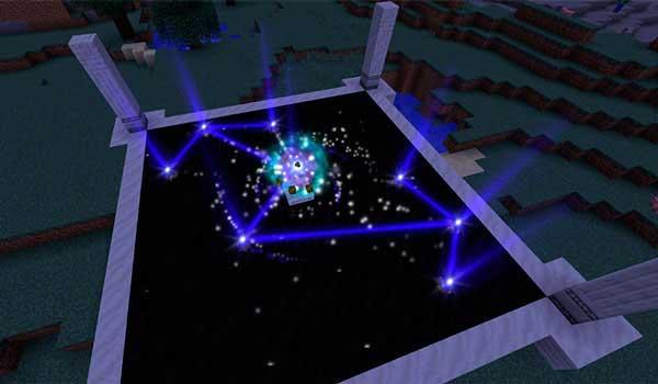 Imagen donde podemos ver una de las estructuras que podremos utilizar para aprovechar el poder de las estrellas, gracias al mod Astral Sorcery 1.16.4.