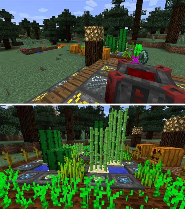 Imagen donde podemos ver algunos de los bloques y objetos mágicos que podremos fabricar con el mod Blood Magic 1.16.3 y 1.16.4.
