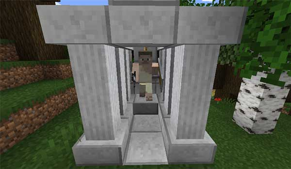 Imagen donde podemos ver una de las estructuras que se generará al instalar el mod Greek Fantasy 1.16.3 y 1.16.4.