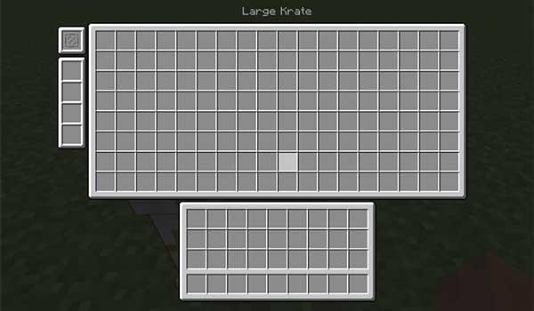 Imagen donde podemos ver la capacidad de una de las cajas que podremos fabricar con el mod Krate 1.16.2, 1.16.3 y 1.16.4.