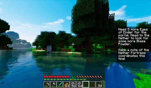 Imagen donde podemos ver cómo un jugador puede visualizar una nota individual, del mod Notes 1.16.4 y 1.16.5, en la pantalla de juego.
