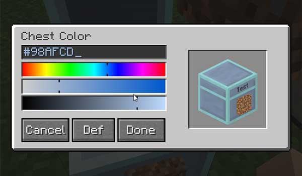 Imagen donde podemos el editor de cofres que nos ofrece el mod Quartz Chests 1.16.2, 1.16.3 y 1.16.4.