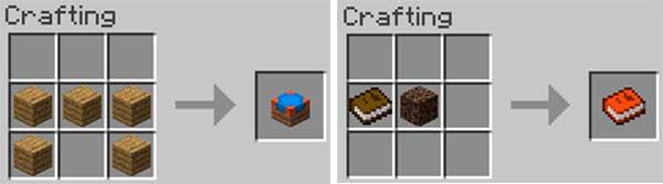 Imagen compuesta donde podemos ver cómo se fabrican los dos elementos que añade el mod Checklist 1.16.4.