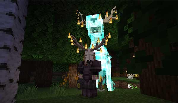 Imagen donde podemos ver al Lord of the Woods que añade el mod Whisperwoods 1.16.3 y 1.16.4.