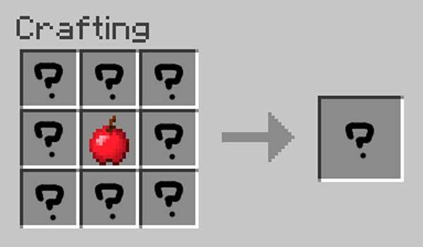 Imagen donde podemos ver el proceso de elaboración estándar de las manzanas que añade el mod Apples Plus 1.16.4.