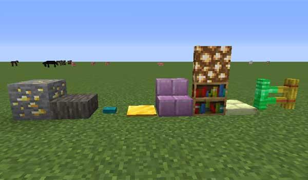 Imagen donde podemos ver cómo son las nuevas formas y formatos de bloques de construcción que podemos fabricar con el mod BlockCarpentry 1.16.1, 1.16.2, 1.16.3 y 1.16.4.