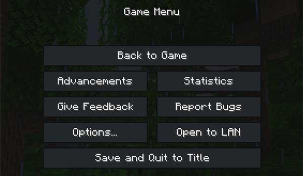 Imagen donde podemos ver el aspecto que tendrá el menú de juego al instalar FadeCraft Texture Pack 1.16 y 1.12.