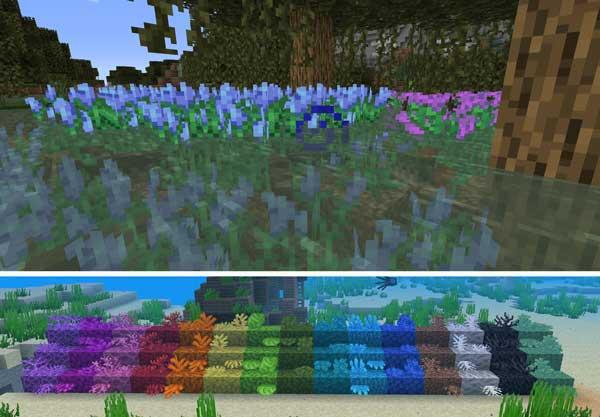 Imagen donde podemos ver algunos de los elementos que nos ofrecerá el mod Upgrade Aquatic 1.16.1, 1.16.3 y 1.16.4.