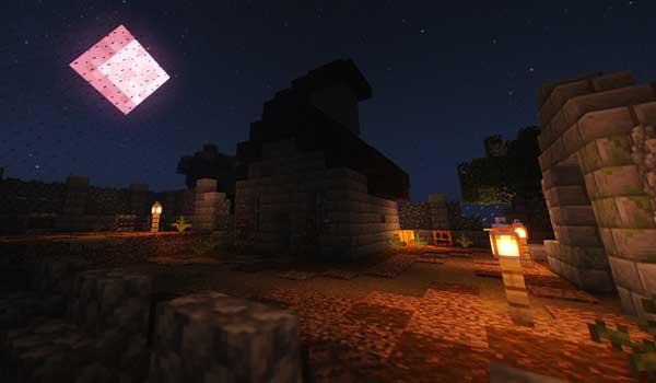 Imagen donde podemos ver un paisaje nocturno en una de las dieciséis arenas que nos ofrece el mapa Combat Cube 2.