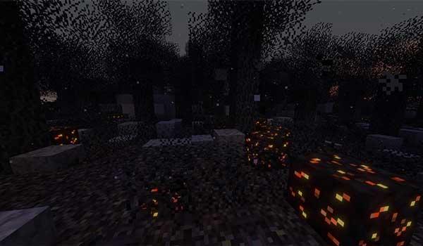 Imagen donde podemos ver el aspecto de nuevo bioma que añade el mod Desolation 1.16.4 y 1.16.5.