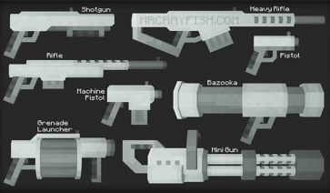 MrCrayfish's Gun 1.16.3, 1.16.4 y 1.16.5