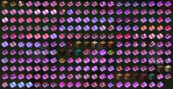 Imagen donde podemos ver la gran cantidad de libros encantados que podremos utilizar con el mod Neko's Enchanted Books 1.16.2, 1.16.3, 1.16.4 y 1.16.5.