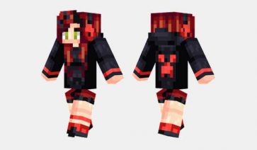 Red Creeper Girl Skin