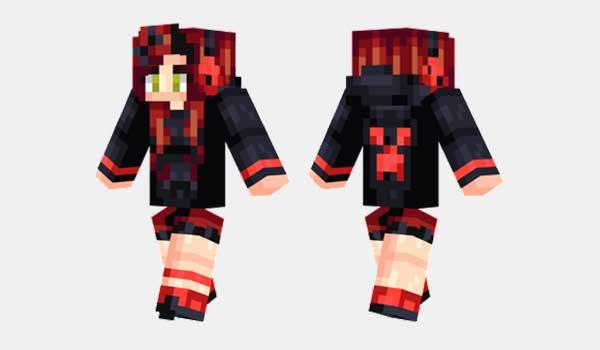 Red Creeper Girl Skin