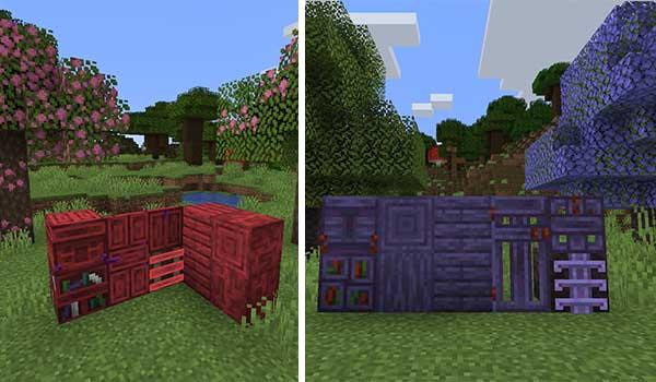 Imagen donde podemos ver una exposición de los nuevos materiales que generará el mod Abundance 1.16.4 y 1.16.5.