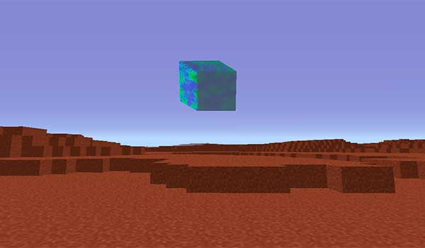 Imagen donde podemos ver la vista que tendrá un jugador desde el planeta Marte, generado por el mod Advanced Rocketry 1.16.5.