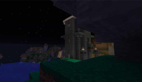 Imagen donde podemos ver un ejemplo de una de las nuevas estructuras que añadirá el mod ExplorerCraft 1.16.5 al juego.