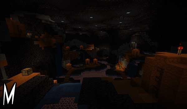 Imagen donde podemos ver una de las áreas que podremos explorar al instalar el mapa Monstrosity 1.16.