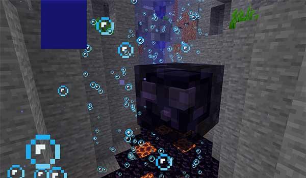 Imagen donde podemos ver el Slime de obsidiana que añade el mod Slimier Slimes 1.16.4 y 1.16.5.