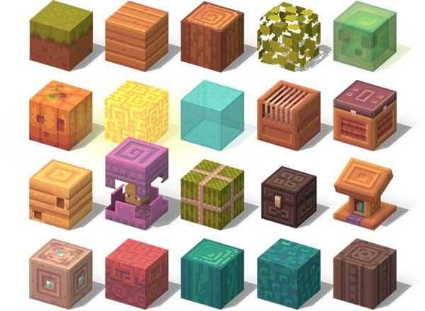 Imagen donde podemos ver un ejemplo de los nuevos diseños de texturas que nos ofrece el paquete de texturas Dandelion X 1.16, 1.14 y 1.12.