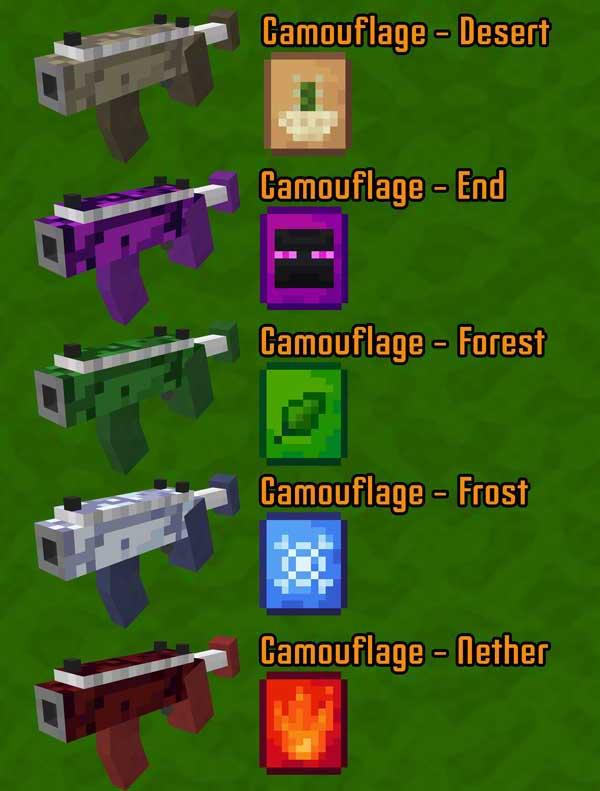 Imagen donde podemos ver algunas de las armas vegetales que nos permitirá fabricar y utilizar el mod Garden Arsenal 1.16.4 y 1.16.5.