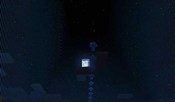 Imagen donde podemos ver las flechas que aparecen en el cielo indicando la dirección en que se desplazarán las fronteras del mapa Nomad Survivor 1.16.