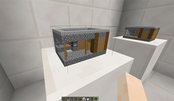 Imagen donde podemos ver una de las construcciones en miniatura para decorar que nos ofrece el mod Random Decorative Things 1.16.5.