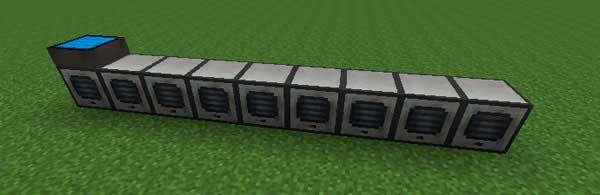 Imagen donde podemos ver un ejemplo de una serie de almacenadores, sobre los cuales se colocan las placas solares que nos permite fabricar el mod Solar Flux 1.16.2, 1.16.3, 1.16.4 y 1.16.5.