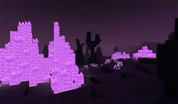 Imagen donde podemos ver cómo es el aspecto de la nueva dimensión que añade el mod The Midnight 1.16.4 y 1.16.5.