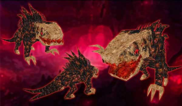 Imagen donde podemos ver una de las criaturas demoníacas que añade el mod Lycanites Mobs 1.16.5.