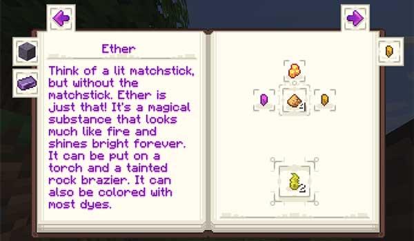 """Imagen donde podemos ver una de las recetas que añade el libro """"Encyclopedia Arcana"""" que añade el mod Malum 1.16.5."""