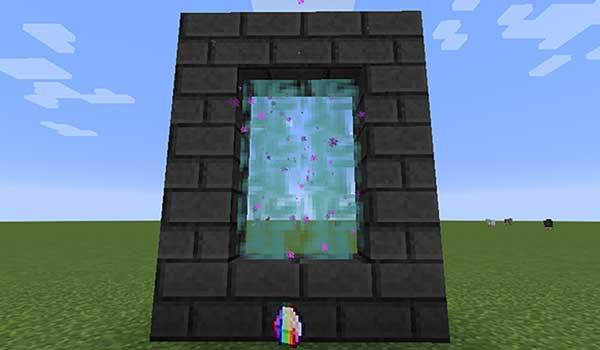 Imagen donde podemos ver el portal dimensional que nos permitirá construir el mod More Tool 1.16.5.