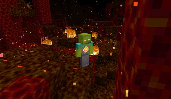 Imagen donde podemos ver al Dios Zombi que añade el mod More Zombies 1.16.5.
