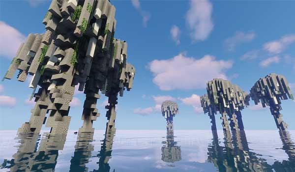 Imagen donde podemos ver el nuevo bioma que añade el mod The Undead 1.16.5.