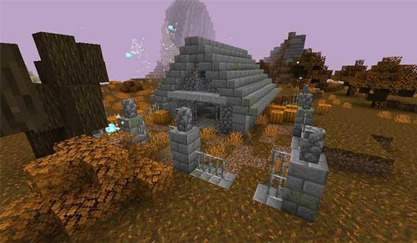 Imagen donde podemos ver una de las estructuras que generará el mod Dungeons & Artifacts 1.16.5.