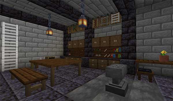 Imagen donde podemos ver una exposición de algunos de los bloques y objetos que nos ofrece el mod Builders Crafts & Additions 1.17.1.