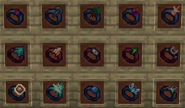 Imagen donde podemos ver una muestra de los anillos mágicos que podemos usar con el mod Gobber 1.17.1.