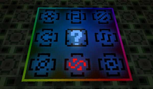 Imagen donde podemos ver uno de los minijuegos que encontraremos en las estructuras generadas por el mod Loot Games 1.16.5.