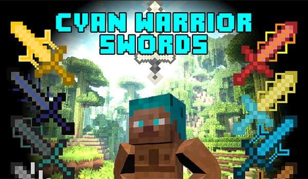 Cyan Warrior Swords 1.17.1