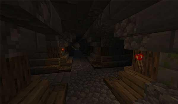 Imagen donde podemos ver el interior de una de las mazmorras que se generarán con el mod Dungeon Crawl 1.17.1.