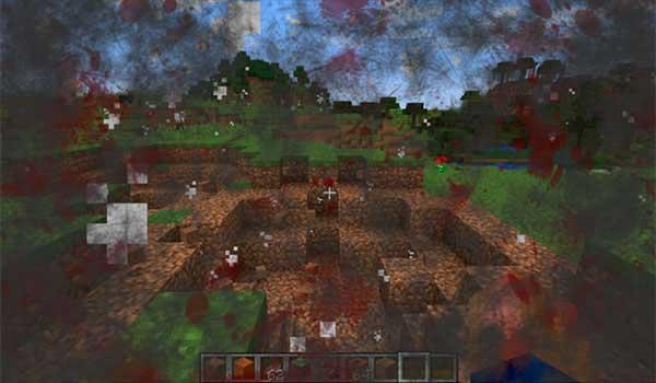 Imagen donde podemos ver el efecto de una explosión con el mod Enhanced Visuals 1.17.1 instalado.