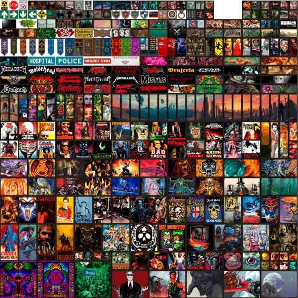 Imagen donde podemos ver un ejemplo de algunas de las nuevas pinturas que ofrece el mod Paintings Plus Plus 1.17.1.