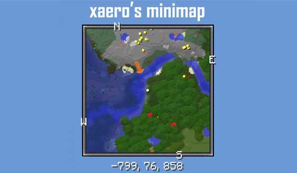 Minimapa de Xaero 1.17.1